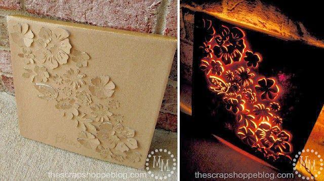 INSPIRÁCIÓK.HU Kreatív lakberendezési blog, dekoráció ötletek, lakberendező tanácsok: Világító kép a falra