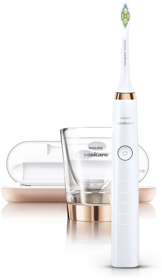 Philips Sonicare DiamondClean Rose Gold is an electric toothbrush with advanced technology in design and performance for a whiter, healthier smile. The toothbrus...