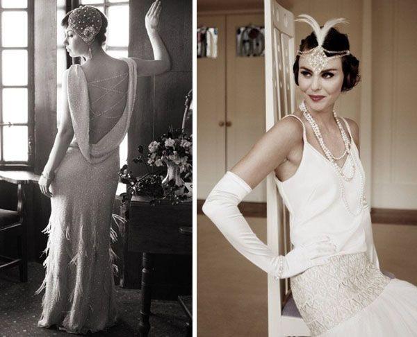 20s style wedding dresses
