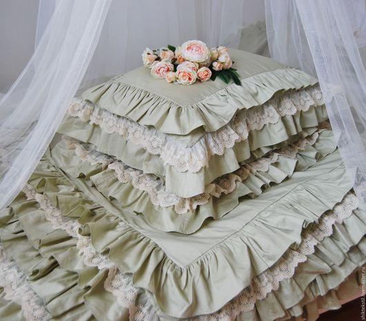 Подарки на свадьбу ручной работы. Ярмарка Мастеров - ручная работа. Купить Постельное белье из сатина в стиле шебби шик. Подарок на свадьбу. Handmade.