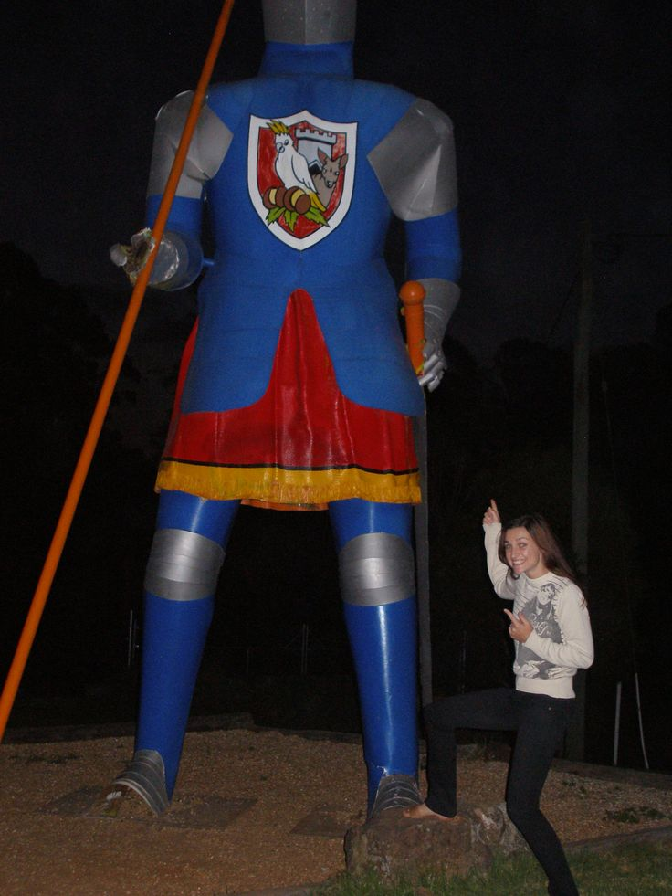 The Macadamia Castle's 'Big Knight' - a traditional travellers rest stop when on the road between the Gold Coast and Coffs Harbour coast.