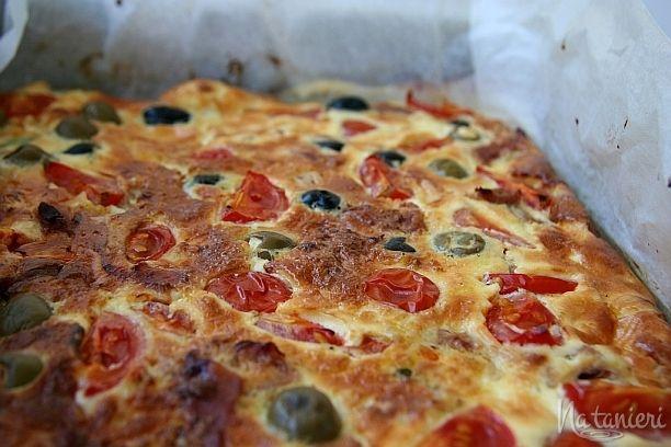 fritata so šunkou a zeleninou