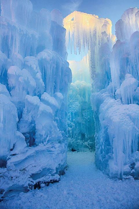 Opening soon at Loon Mountain in New Hampshire - a giant Ice Castle with walls of giant icicles extending 25-40 feet in the air. Made by Utah-based artist Brent Christensen and his crew, this free form castle should open by mid-to-late December through March. See it at night when multicolored lights embedded in the ice will give it an otherworldly glow.