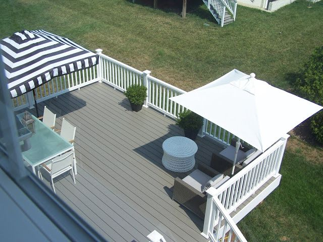 grey and white deck - done!