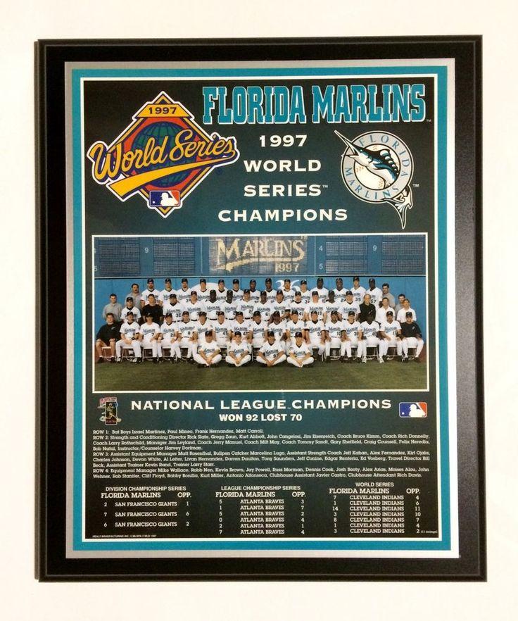 Florida Marlins 1997 World Series Championship Plaque by Healy Awards #HealyAwards #FloridaMarlins