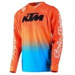 KTM 2016; Troy Lee Designs SE Starburst Cyan/Orange Jersey