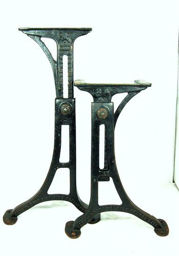 machine age industrial adjustable cast iron table base legs kenney bros wolkins ebay