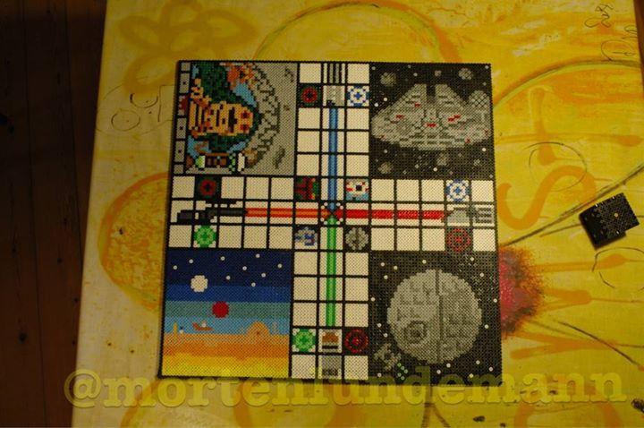 Star Wars ludo board game hama beads by Morten Lundemanns - Figures: https://de.pinterest.com/pin/374291419012303094/