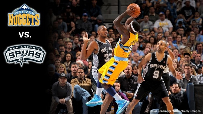 Nuggets play the Spurs tonight at 6 PM MST!