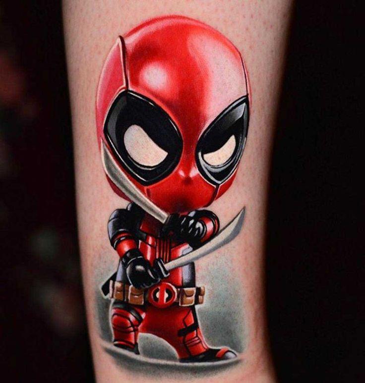 cute deadpool tattoo