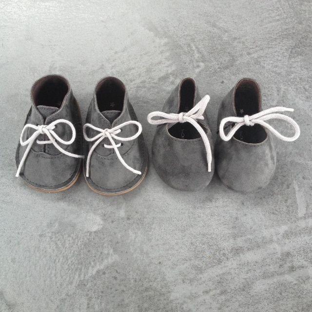 "sweet grey baby shoes for boys and girls: ""Mon Marcel Schoentjes""   kids fashion . Kindermode . mode d'enfant   Mon Marcel  "