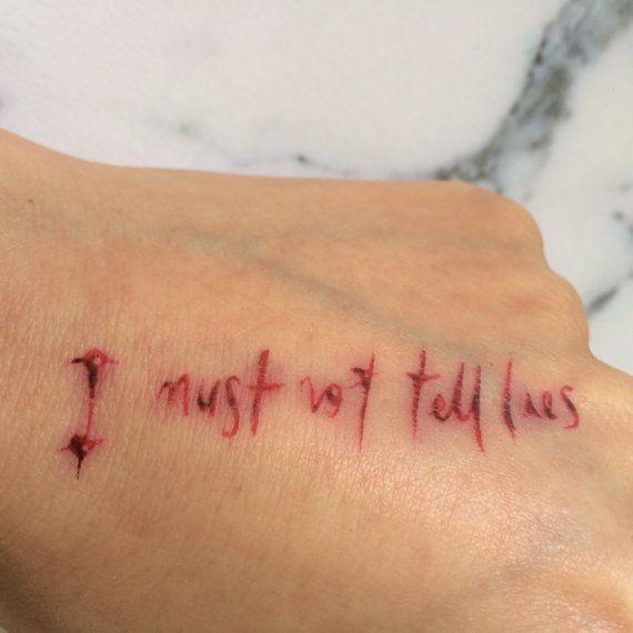 Harry Potter I Must Not Tell Lies Temporary Tattoo by Tatzarazzi