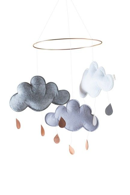 Designstuff offers a range of Scandinavian nursery items including this stunning Danish designed cloud mobile by Konges Slojd.