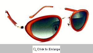 Raven Oval Resin Sunglasses - 422 Red