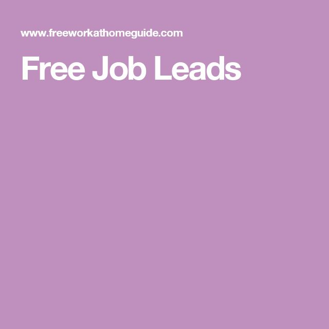 Free Job Leads