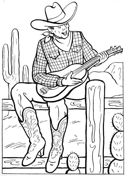 coloring book pages cowboys - photo#48
