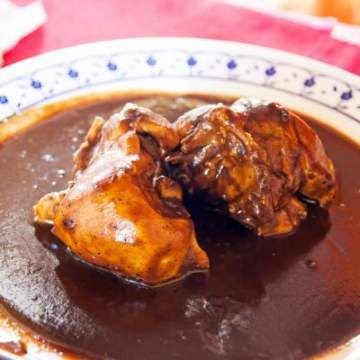 Crockpot Mole Chicken (Mexican Chicken with Sauce)