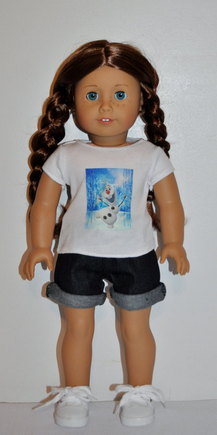 special listing---Frozen- olaf shortsand top outfit  that fits AMERICAN GIRL DOLLS by DOLLYDUDSBYBECKIE on Etsy