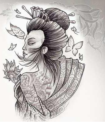 Geisha tatoo