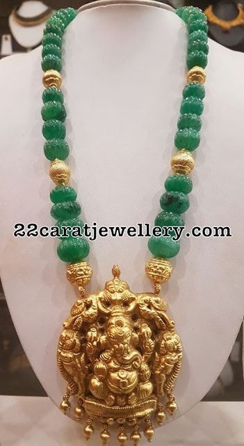 Beads Chains with Silver Metal Pendants - Jewellery Designs