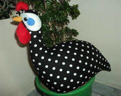 galinha de angola peso de porta