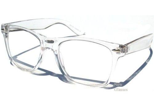 TRANSPARENT FRAME CLEAR LENS GLASSES Hipster Nerd Geek ...