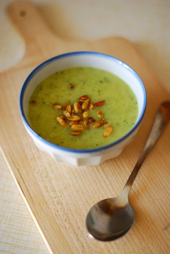 zupa cukiniowo-porowa