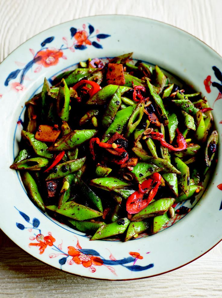 Runner beans with black beans and chilli recipe