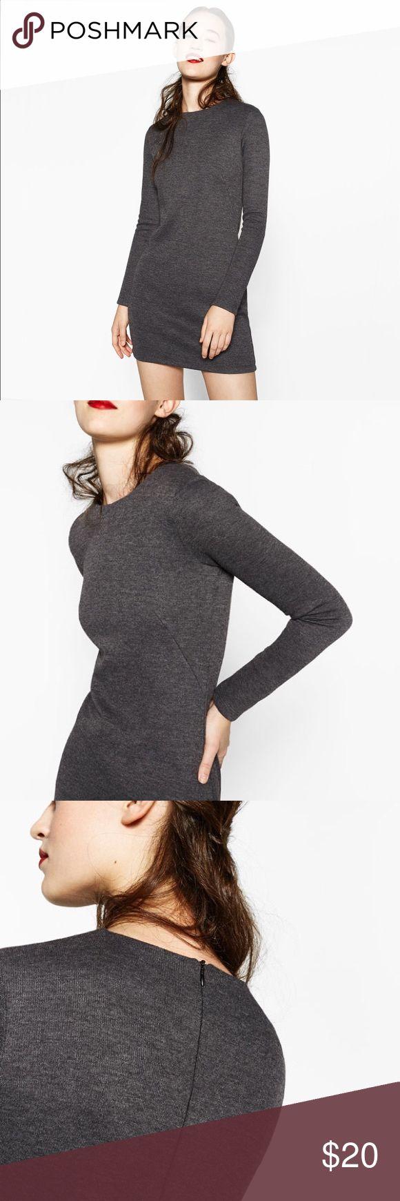NWOT Zara grey long sleeve dress NWOT Zara grey sleeve dress Zara Dresses Mini