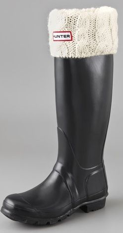 want this cableknit fleece sock for my hunter boots.