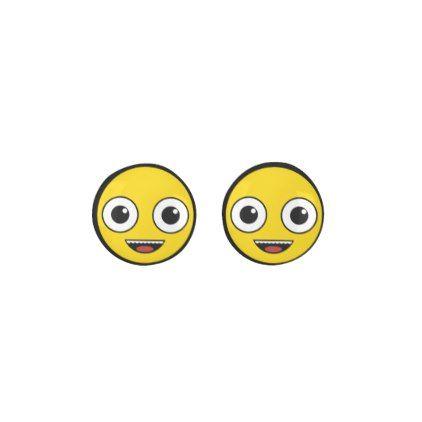 Super Happy Face Earrings - accessories accessory gift idea stylish unique custom