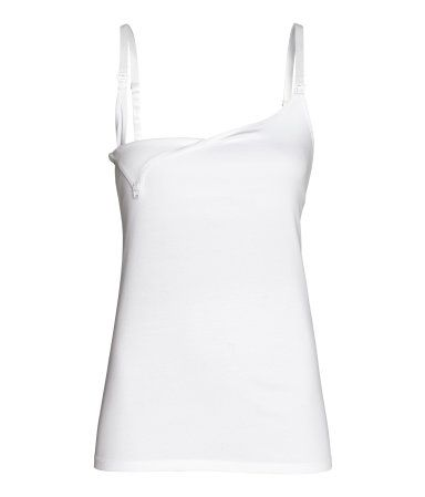 MAMA 2-pack Nursing Tank Tops | White/black | WOMEN | H&M US