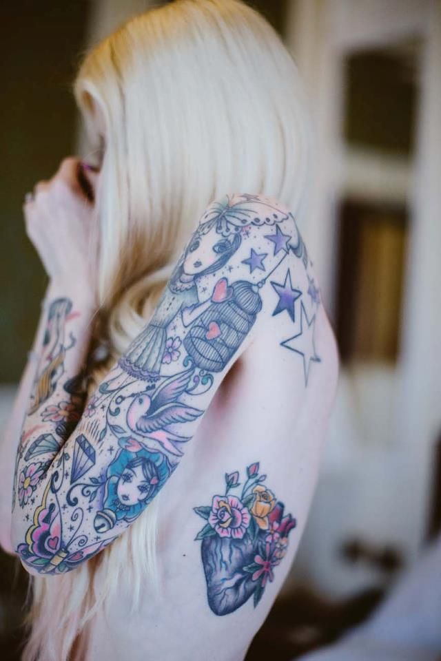 Amanda Toy's tattoos