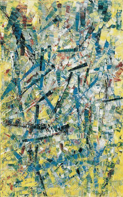 Jean Paul Riopelle, Sans titre, 1955, huile sur toile, 115,2 x 72,5 cm