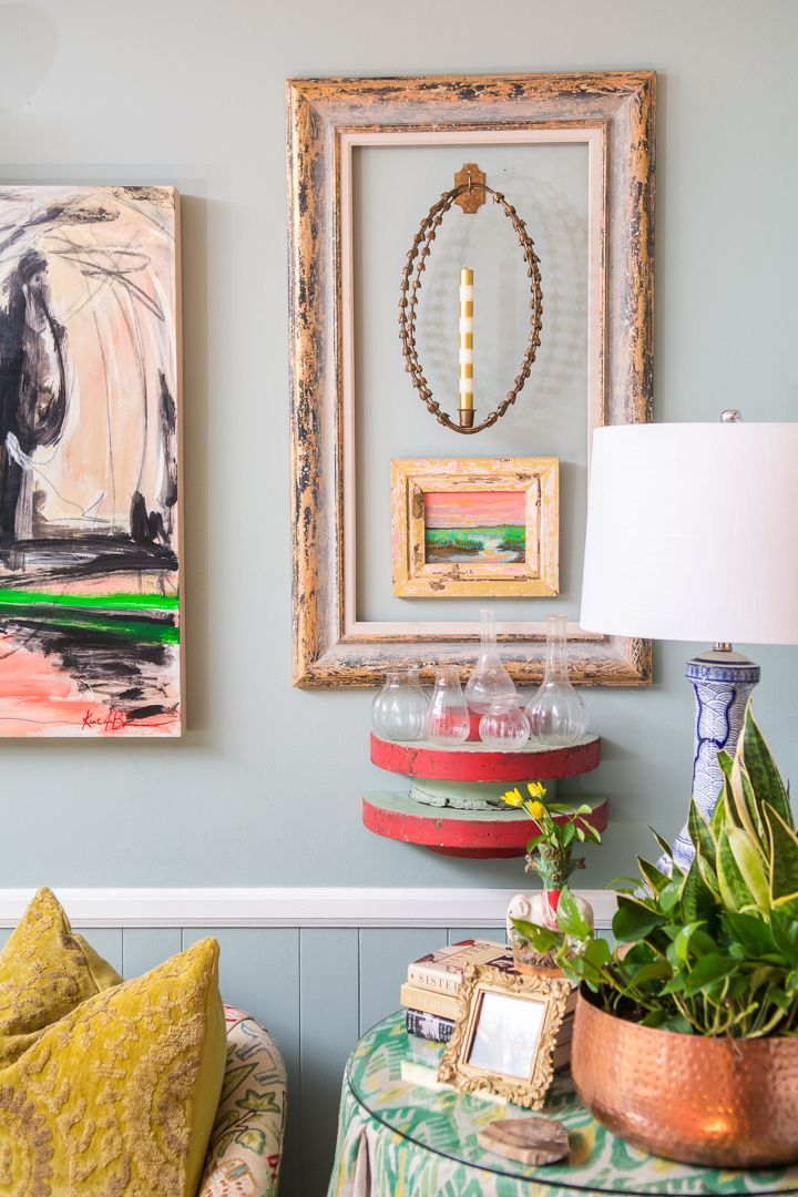 Colorful Eclectic Living Room Space Filled With Pattern Play Collections And Art Love The Wall Arrangements
