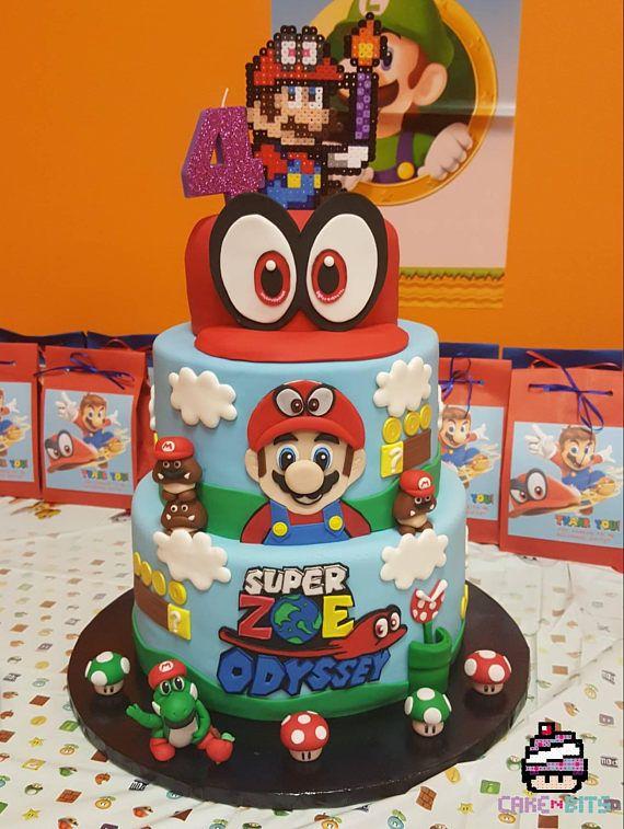 super mario odyssey ship cake