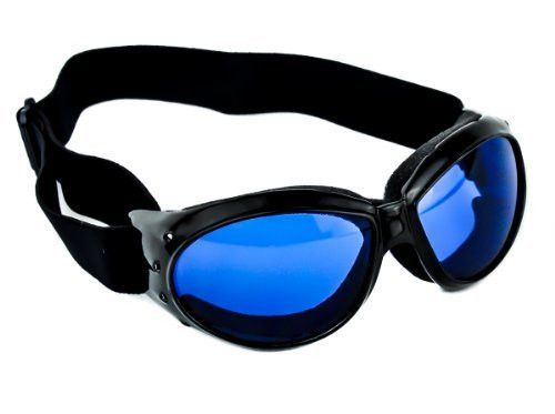 d351924bcc3 Large Blue Lens Motorcycle Goggles Protective Riding Sunglasses ...