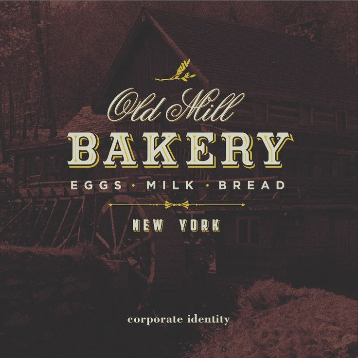 #OldMill #Bakery #NYC By www.VintageGraphicDesign.com the only worldwide agency specializing in vintage graphic   #VintageGraphicDesign  #vintage #graphic #design #oldstyle #vintagedesign #vintagegraphic #graphicdesignagency #elegance #antique #businesscard #flyer #website #corporateidentity #logotype #oldsignboard #antique #ancient #newyork #usa #eggs #brunch #milk #cake #bread #food