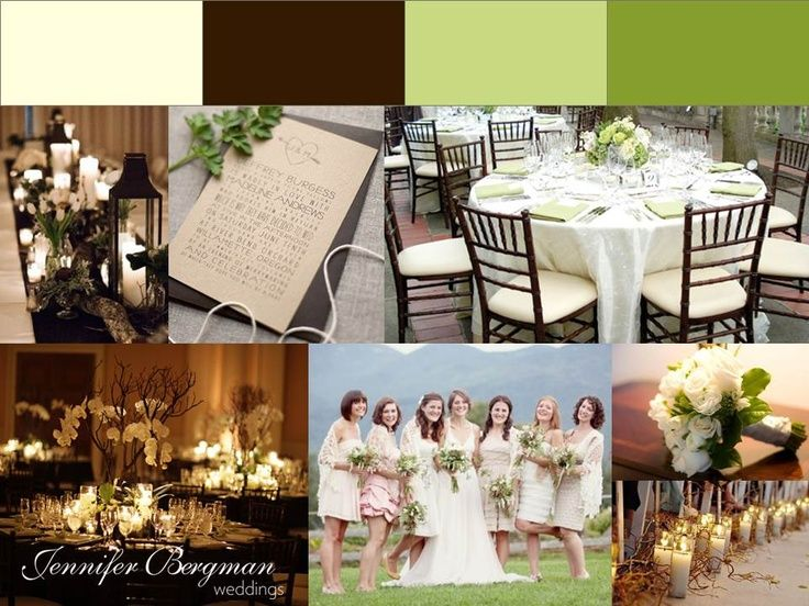 beige and brown wedding - photo #36