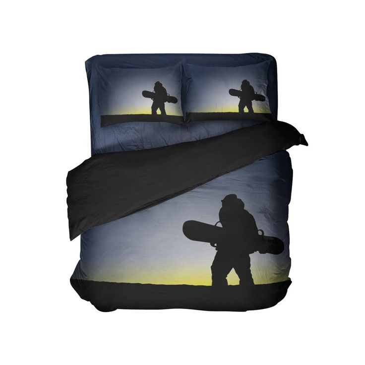 "Kids Snowboard Comforter Set ""Dreaming of Gold"" from Kids Bedding Company"