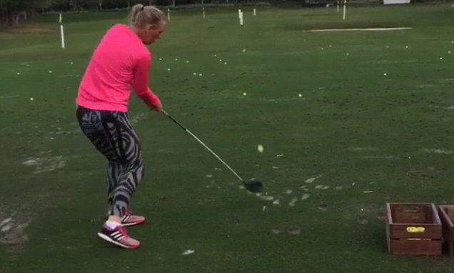 Watch out Rory McIlroy... Caroline Wozniacki is coming for you!