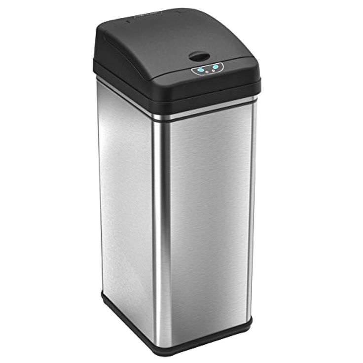 #Touchless Stainless Kitchen #Deodorizer Automatic Sensor #Trash #Can 13 Gallon #iTouchless