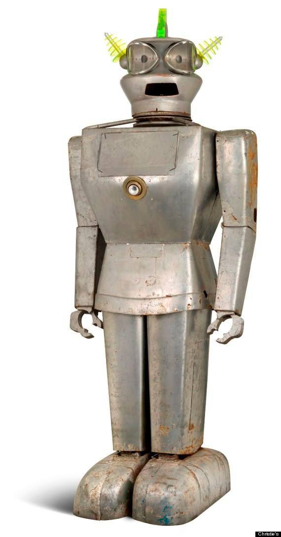 AN ITALIAN HUMANOID ALUMINUM ROBOT TITLED 'CYGAN', CIRCA 1957                                                                                                                                                     More