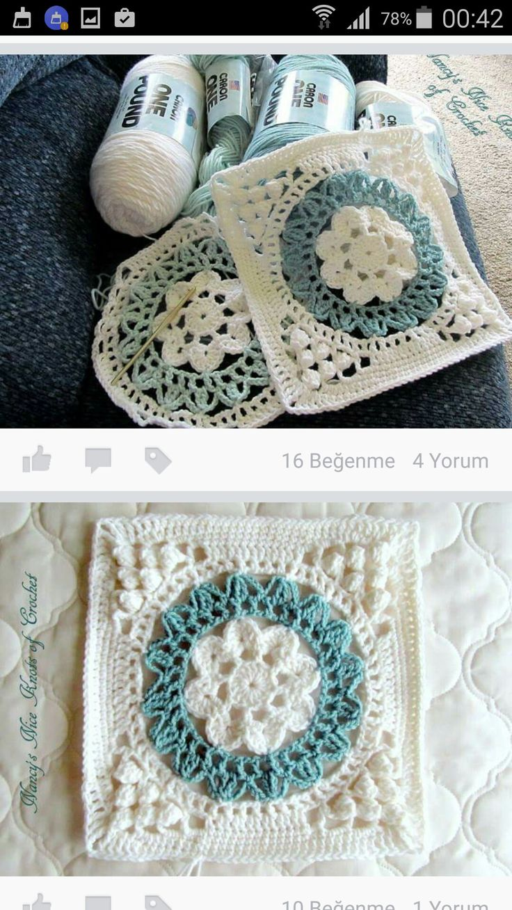 7363 best GRANNY SQUARE images on Pinterest | Crochet blankets ...