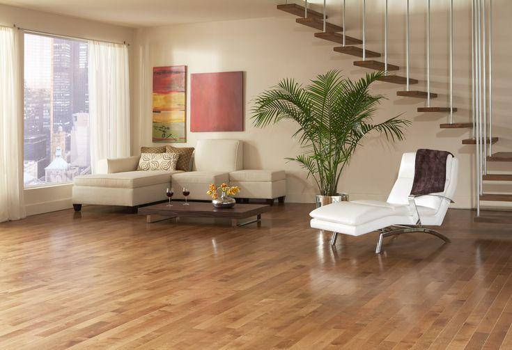 Planchers de bois franc Preverco - Salle Familiale – Merisier, couleur Santa Fe