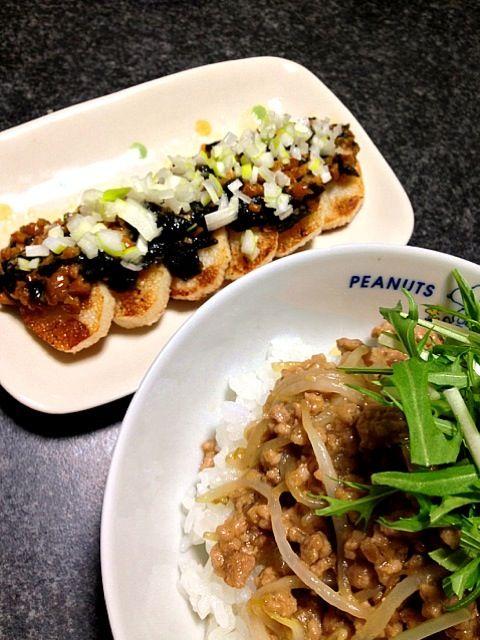挽き肉ともやしは安くて助かりますねぇ〜(* ̄∇ ̄*) - 190件のもぐもぐ - 挽き肉ともやしの味噌炒め丼            長芋焼き 納豆&海苔ソースがけ by masumi0706