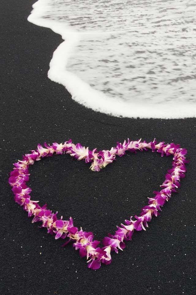 58 best hawaiian lei greetings images on pinterest honolulu hawaiian lei on the famous black sands of hawaii m4hsunfo
