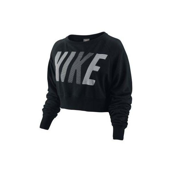 Nike Cut Back Women's Sweatshirt - Black/Black, 21 (760 UYU) ❤ liked on Polyvore featuring tops, shirts, sweaters, nike, blusas, long sleeve t-shirts, long sleeve tops, layered tops, layering shirts and long sleeve shirts