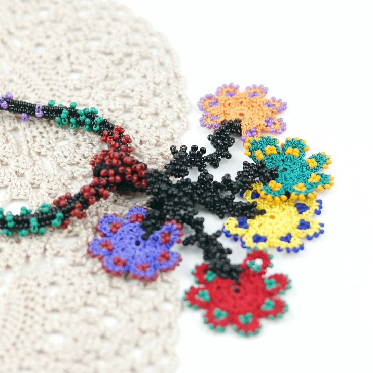 NEW LISTING  Ethnic Style Crochet Beaded Tassel Necklace !!!
