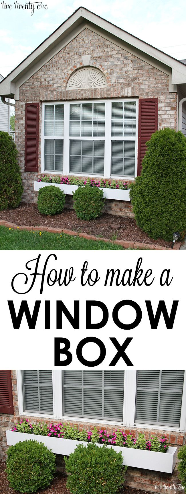 How to make a window box!  A GREAT way to add instant curb appeal to your home!